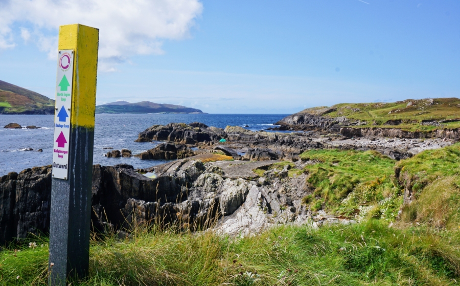Ballydonegan Bay, Ireland, a great place to start several hikes along the coast and up into old copper mines.