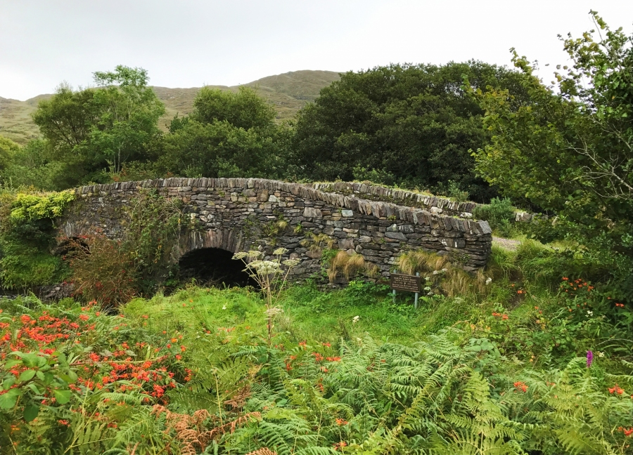 Driving in the campervan on the Ring of Kerry was full of sights like this ancient stone bridge.