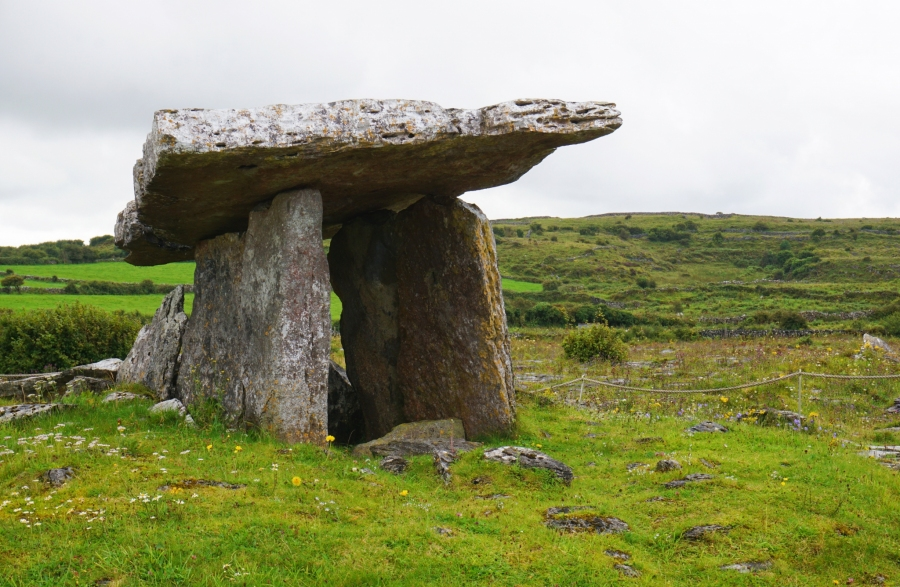 The Poulnabrone Dolmen is in the Burren of Ireland. It's part of the Wild Atlantic Way which we explored in our campervan living the vanlife.