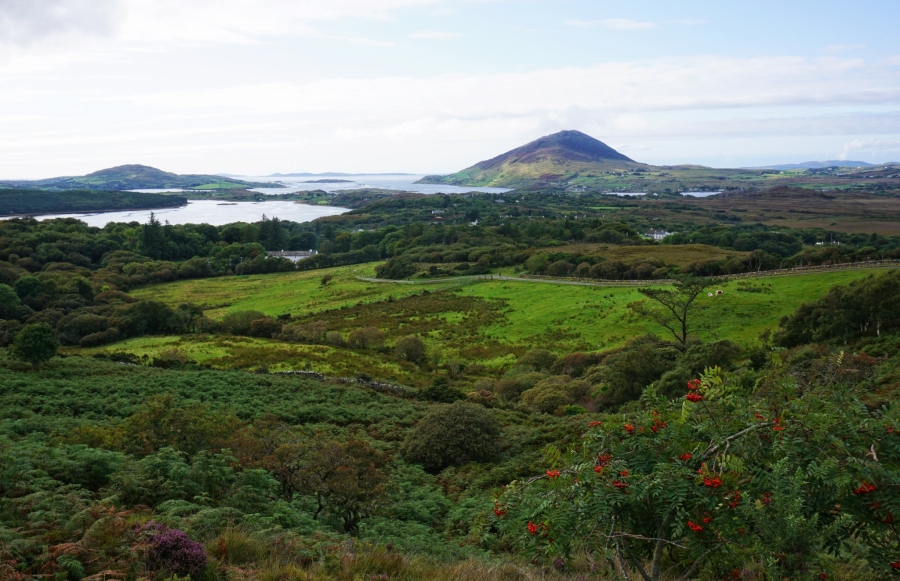 Diamond Hill, Ireland is a popular hiking trail in Connemara National Park, Ireland.