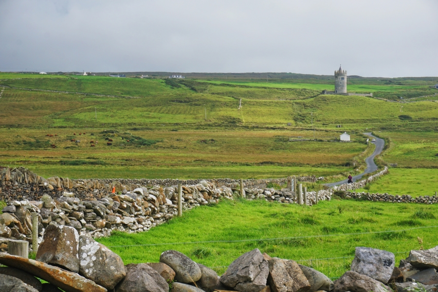 Castles in Ireland are everywhere. Here is one near the town of Doolin on the Wild Atlantic Way.