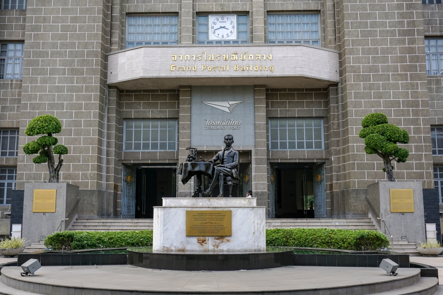 Grand Postal Building in Bang Rak neighborhood.
