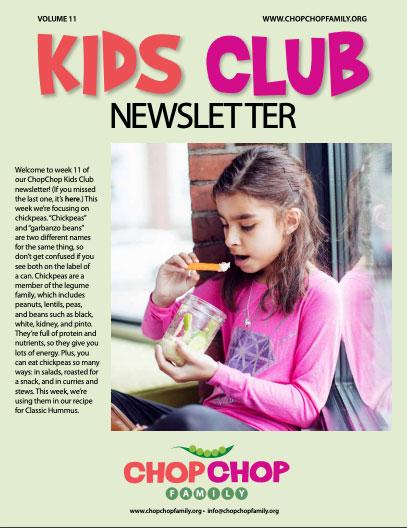 Chop Chop Newsletter – Week 11