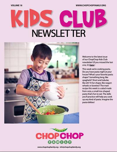 Chop Chop Newsletter – Week 18