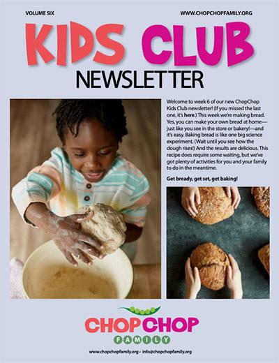ChopChop Kids Club Newsletter – Week 6