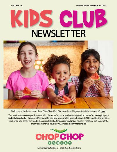 Chop Chop Newsletter #19