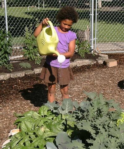 school-garden-girl