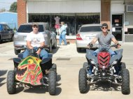 Wade and Gage at the Walleye Rodeo Parade.
