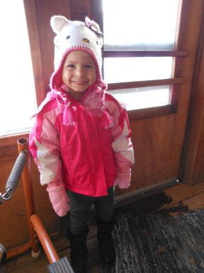 Keira ready for fun in the snow.
