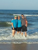 The Leonard family enjoys their vacation in Daytona Beach.