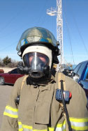 Derek at Live Fire Exercise in Structures