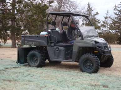 Modifications were made to allow the ranger to work as a spray rig around the house.