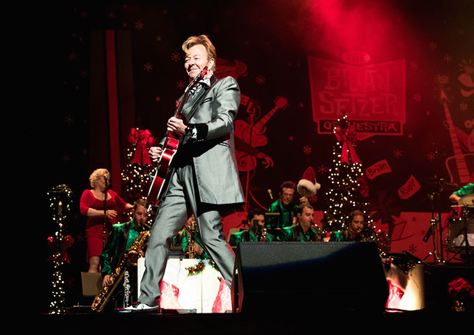 the brian setzer orchestra takes a three day residency in oklahoma on its annual christmas tour. Black Bedroom Furniture Sets. Home Design Ideas