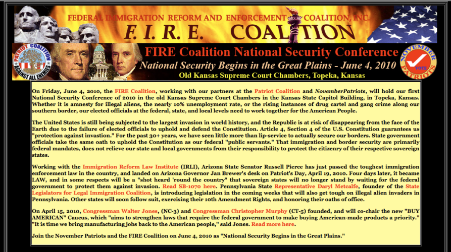FIRE Coalition features OK Rep. Charles Key on June 4th