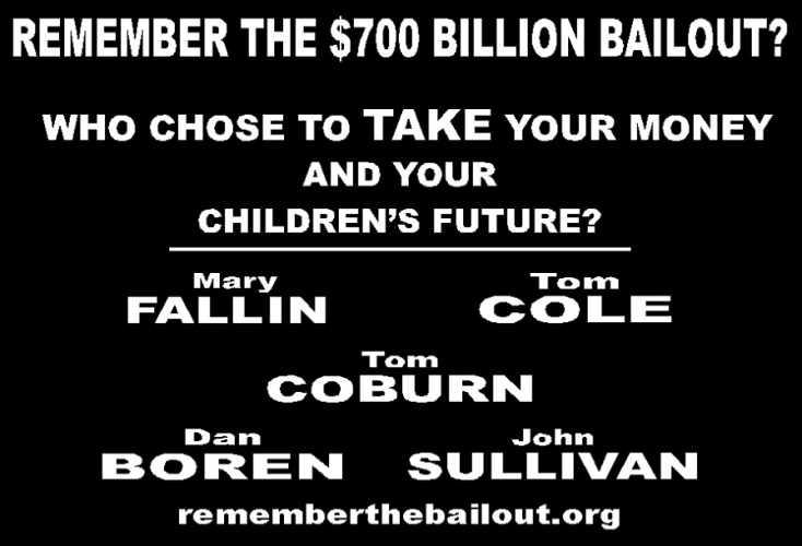 Remember the Bailout When you Vote in 2010