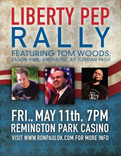 Oklahoma Grassroots share Liberty Pep Rally – May 11th at Remington Park