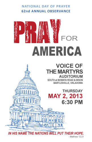 National Day of Prayer on May 2nd 2013