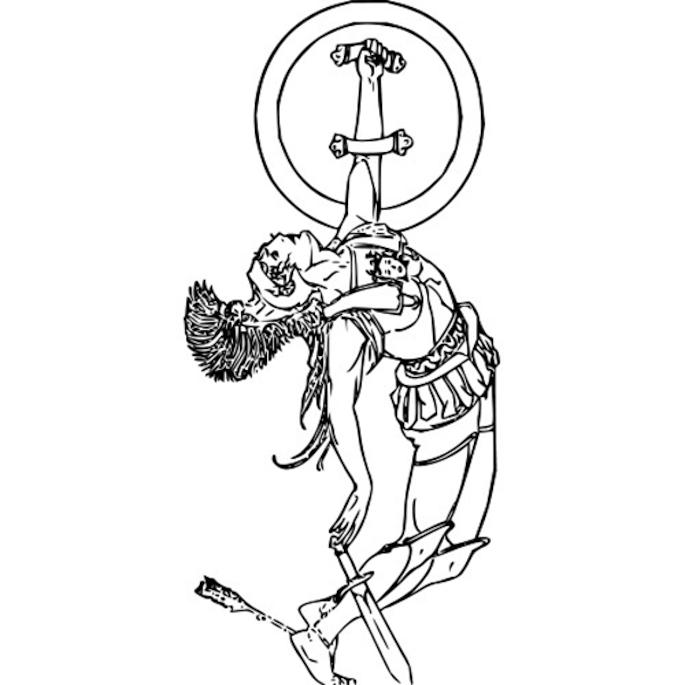 Achilles death clip art