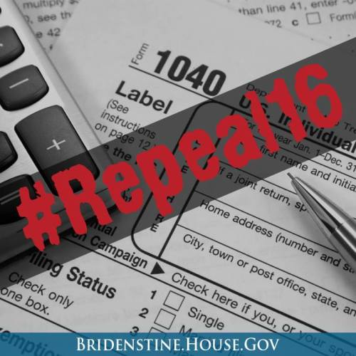Congressman Jim Bridenstine Files Bill to Repeal 16th Amendment (Income Tax)