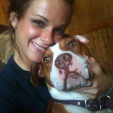 Cali and her owner Sarah.