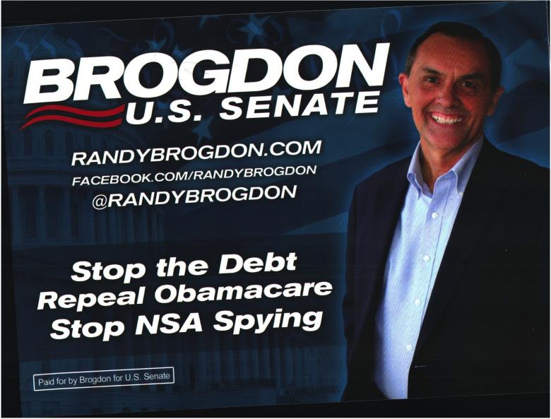 Document-Randy Brogdon for US Senate - 3 key issues Mon Jun 09 2014 Randy Brogdon