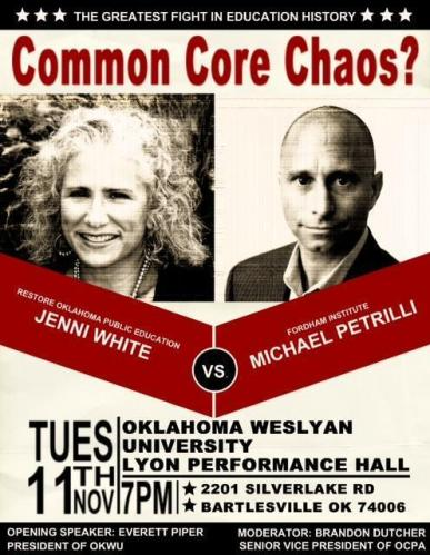 Common Core Chaos Debate at OWU Tuesday Nov 11th