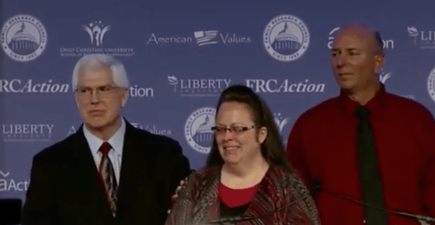 Kim Davis Honors God in Her Remarks Presses Forward in Her Actions