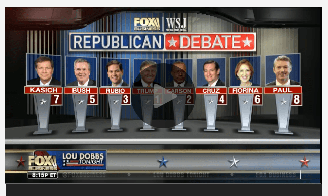 Fox Business Debate Livestream