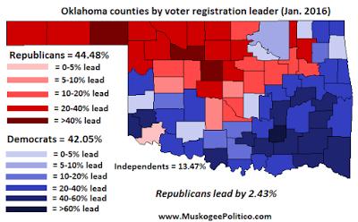 Muskogee Politico: Oklahoma Voter Registration Map -- January 2016