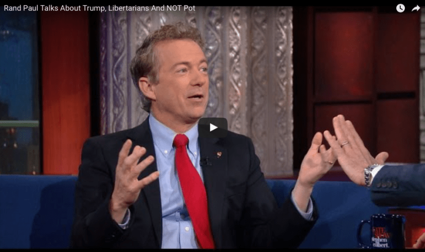 Rand Paul Talks About Haircuts, Fashion, Trump, Libertarians And NOT Pot with Stephen Colbert
