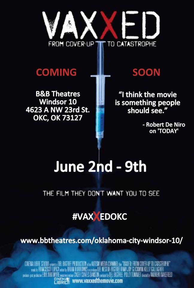Extended to June 16th! VAXXED – from Coverup to Catastrophe - Tickets on Sale NOW in Oklahoma!