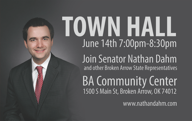 Townhall with Senator Nathan Dahm and others June 14th
