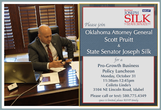 Pruitt to join Silk for business policy luncheon Monday