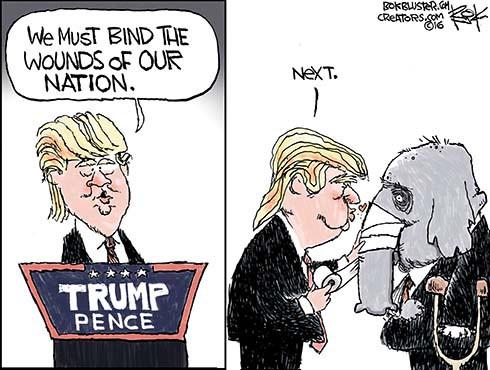 Trump Binding Wounds