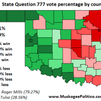 Election Results Map: State Question 777