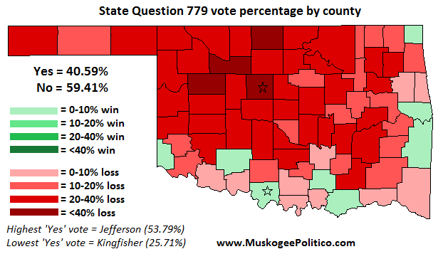 Election Results Map: State Question 779