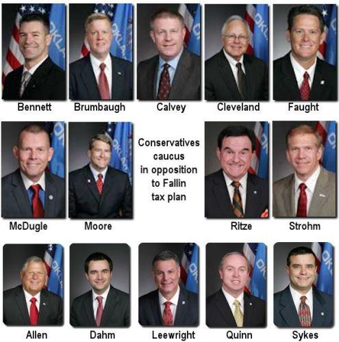 Conservative Legislators Caucus In Opposition To Fallin Tax Proposals