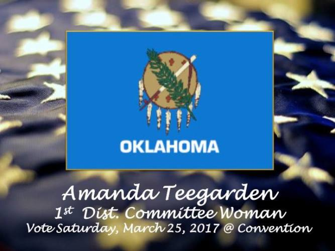 Amanda Teegarden Announces Candidacy for First District Committee woman