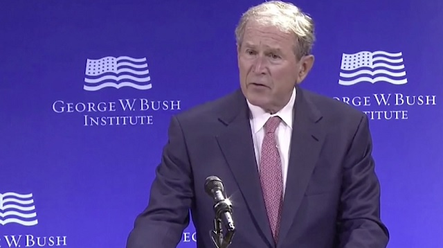 R3publicans: George Bush Attacks Trumpism, Defends Open Borders Globalism From 'Nativist White Supremacists'