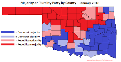 MuskogeePolitico Map: OKGOP makes history, now leads in majority of counties