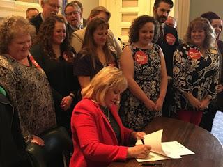 Fallin signs teacher pay raise, tax hike package