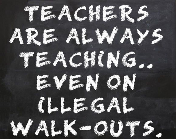Sooner Politics:  Teachers Union Faces Sanctions If Illegal Strike Occurs