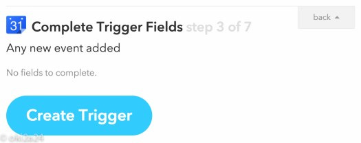 Complete Trigger Fields step 3 of 7。「Create Trigger」