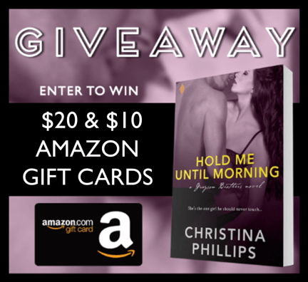 Hold Me Until Morning Giveaway Graphic