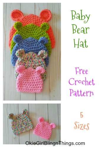 Bear-ly Scary: A Bear Beanie Free Crochet Pattern | 497x349
