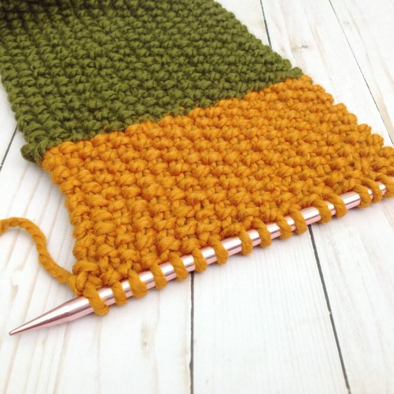 Simple Seed Stitch Knit Scarf - Free Pattern ...