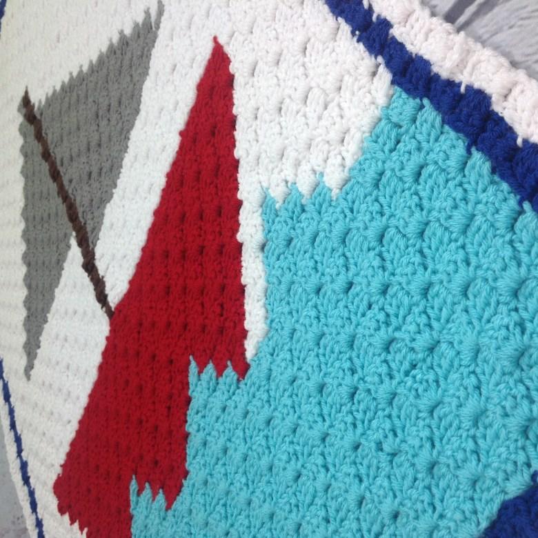 Sailboat C2C Baby Blanket - Free Crochet pattern