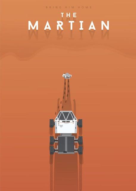 Alternatywne plakaty filmowe - Marsjanin (2015)