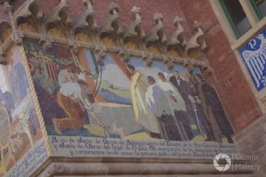 Barcelona, szpital św. Pawła - mozaiki