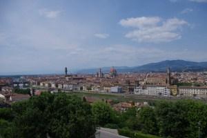 Florencja,widok z Oltrarno, Piazzale Michelangelo